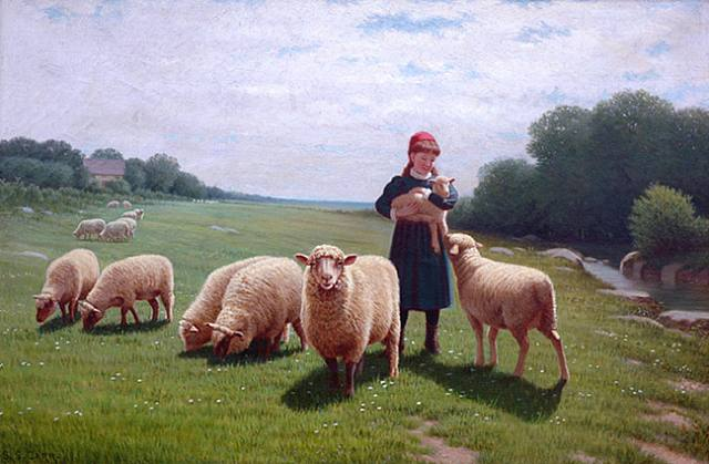 Carr_Holding_the_lamb