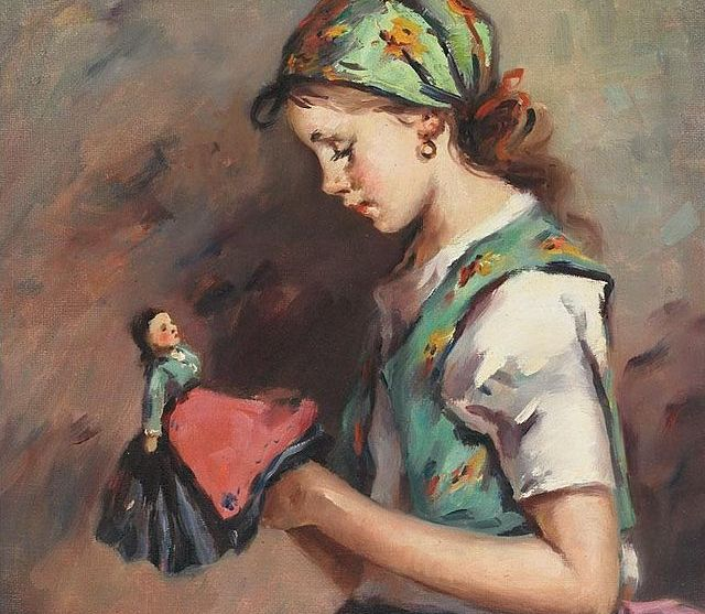 Ferenczy,_Károly_-_Fiatal_lány_a_babával