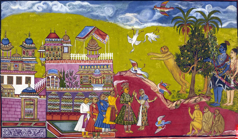 Illustration_of_Sugriva_challenging_Vali_from_the_Ramayana_(c._1628–1649)