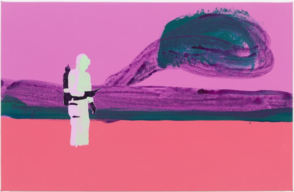 Fogger, 2014, acrylic on canvas, 23 x 35 1/2 in.