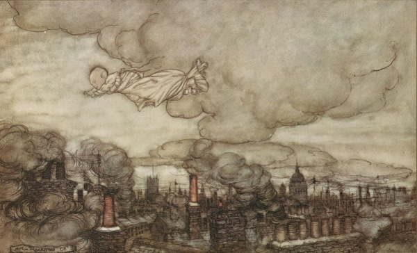 Houghton_Typ_905R.06.195_(A)_-_Arthur_Rackham,_Peter_Pan_-_Away_he_flew