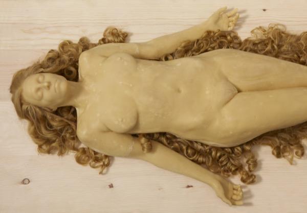 Beecroft_Blonde Figure Lying_detail