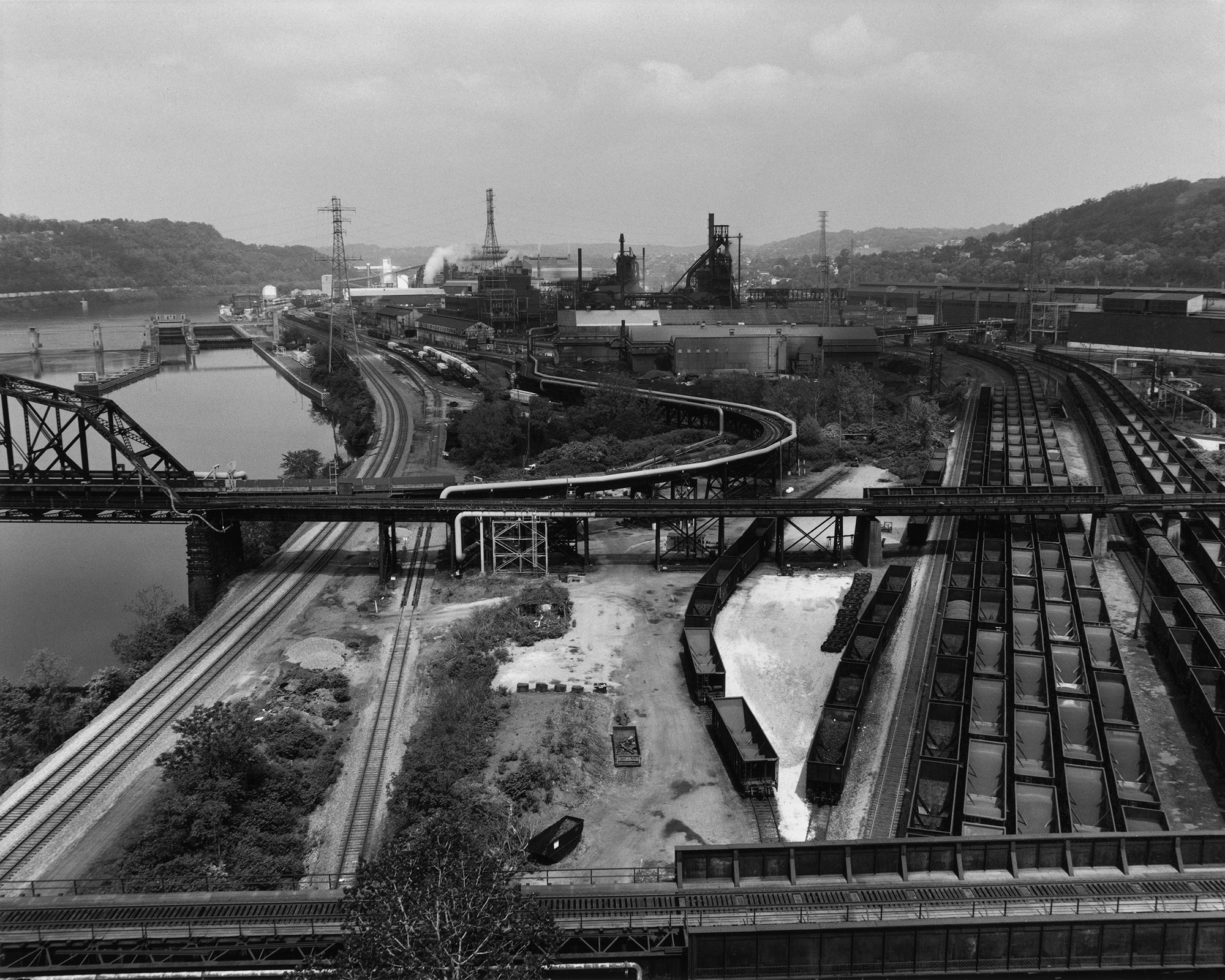 LaToya Ruby Frazier, U.S.S. Edgar Thomson Steel Works and Monongahela River, 2013, from The Notion of Family (Aperture, 2014)