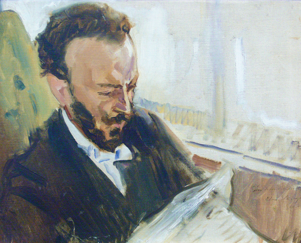 Max_Slevogt_Francisco_d'Andrade_Zeitung_lesend_1903