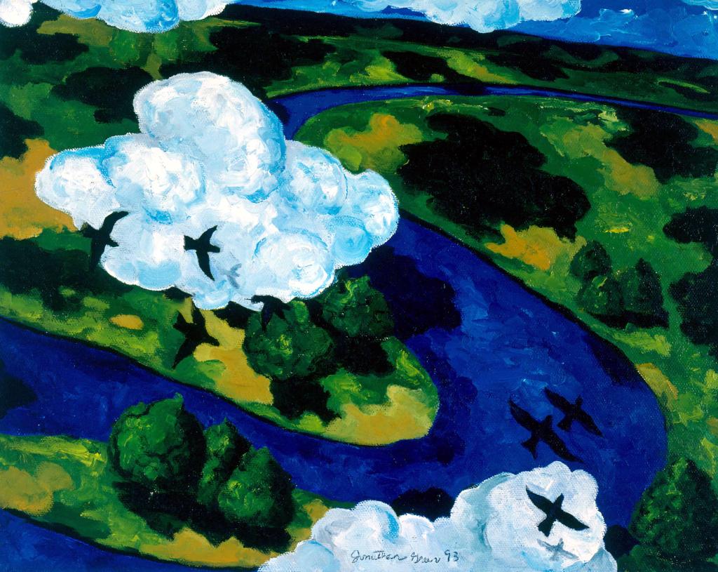 Jonathan Green, Snake River, 1993, acrylic on canvas. © Jonathan Green