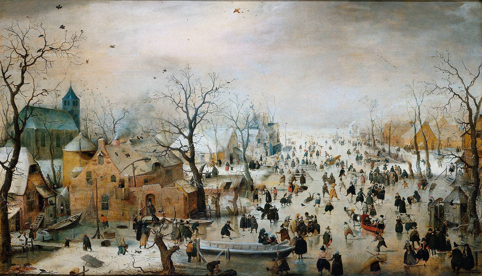 Hendrick_Avercamp_-_Winterlandschap_met_ijsvermaak