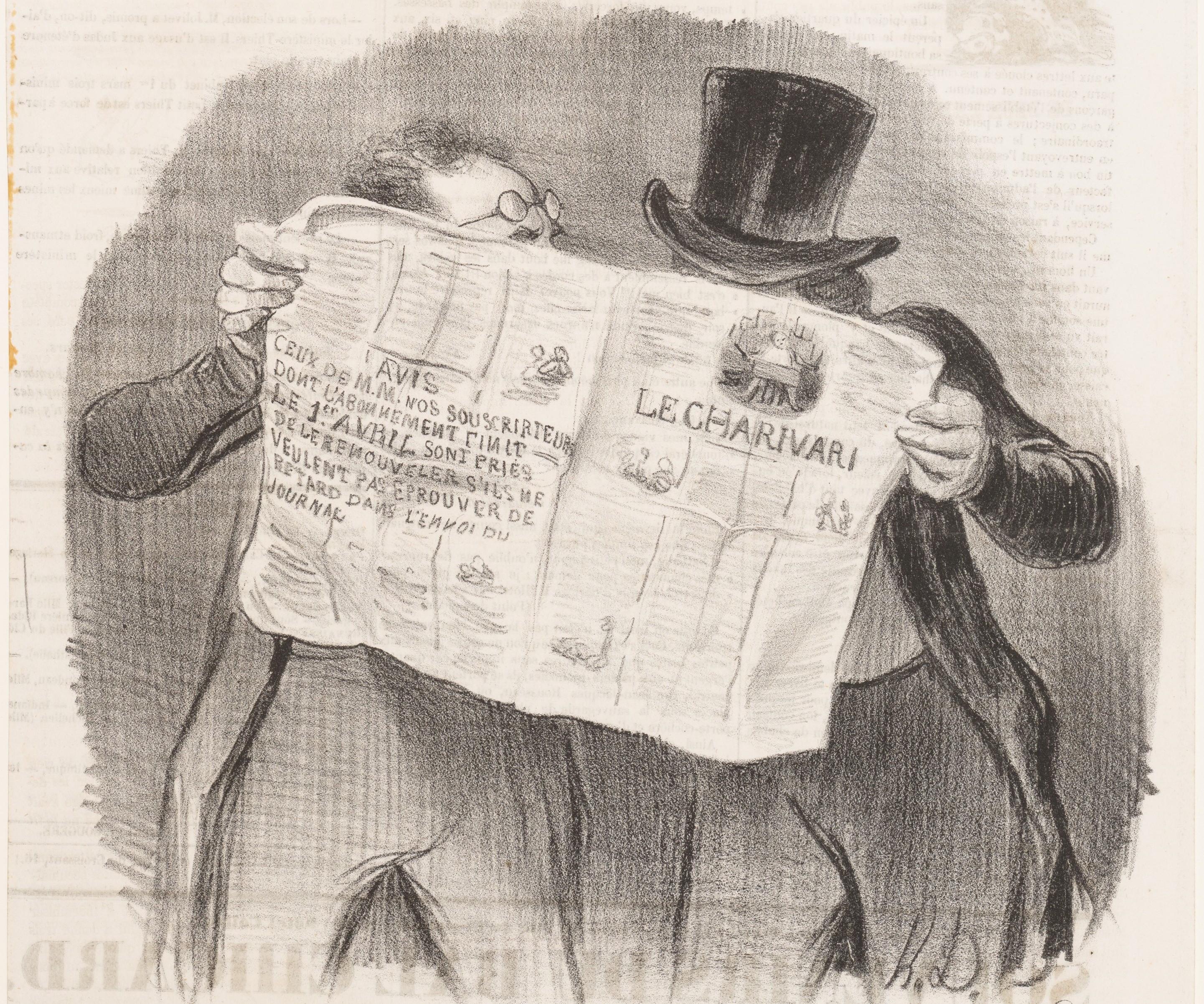 Honore_Daumier,_Le_Charivari_-_Advice_to_Subscribers,_1840