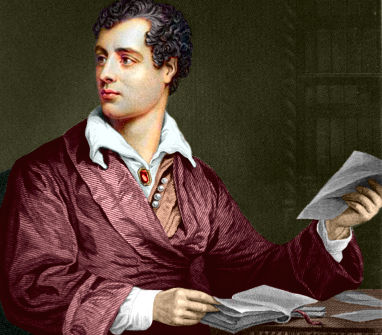 Lord Byron Stares at Death