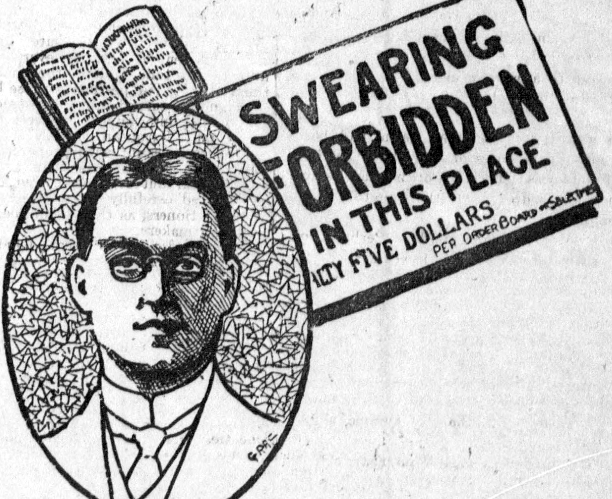 In 1904, Roland D. Sawyer launched a crusade against obscenity.
