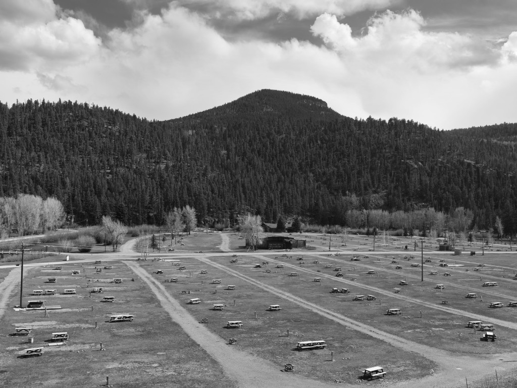 Fun Valley. South Fork, Colorado, 2013, black-and-white photograph..