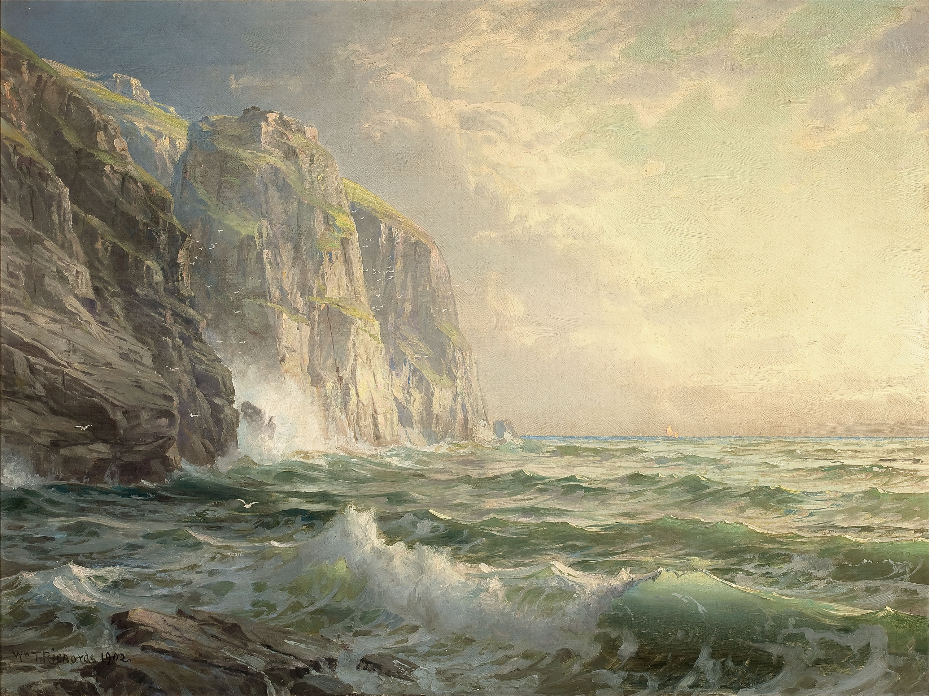 Rocky_Cliff_with_Stormy_Sea_Cornwall-William_Trost_Richards-1902