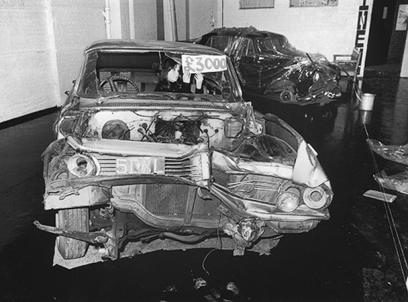 JG Ballard crashed-pontiac