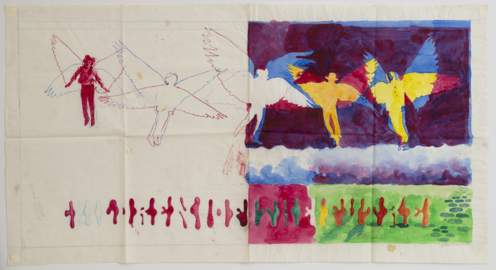 Children of the Future [Steve Miller Band album cover], 1968, watercolor on tracing paper. © Victor Moscoso