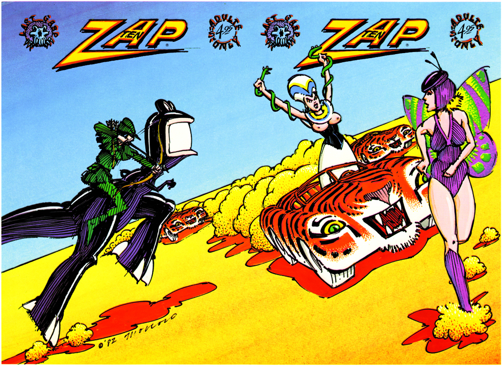 Moscoso's cover for Zap no. 10 (1982). © Victor Moscoso