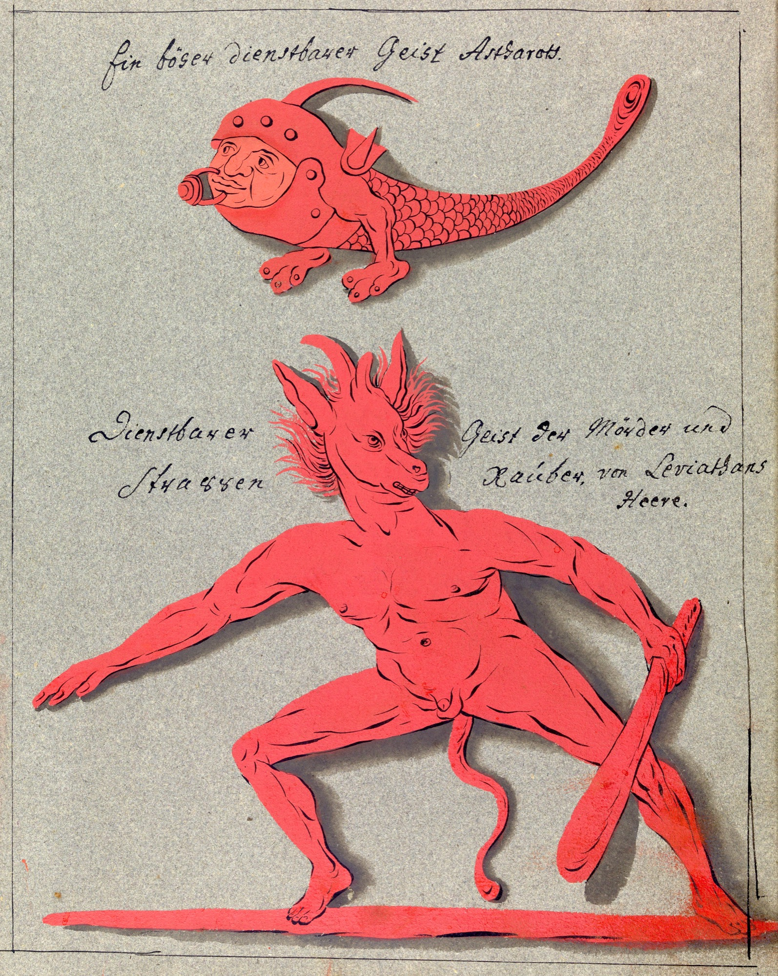 L0076378 A compendium about demons and magic. MS 1766. Credit: Wellcome Library, London. Wellcome Images images@wellcome.ac.uk http://wellcomeimages.org Compendium rarissimum totius Artis Magicae sistematisatae per celeberrimos Artis hujus Magistros. Anno 1057. Noli me tangere. Watercolour c. 1775 Published:  -  Copyrighted work available under Creative Commons Attribution only licence CC BY 4.0 http://creativecommons.org/licenses/by/4.0/