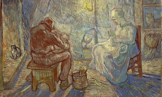 Vincent van Gogh's Evening (after Jean-François Millet), 1889.