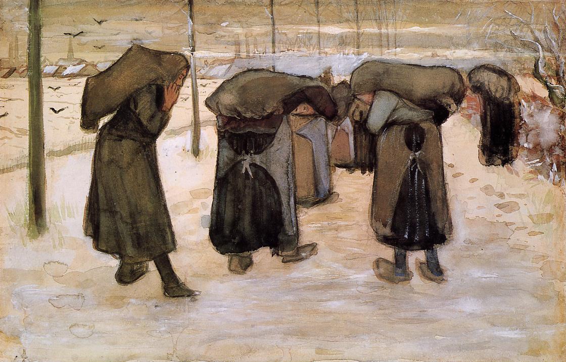 VincentVanGogh-Women-Miners-Carrying-Coal-1881-82