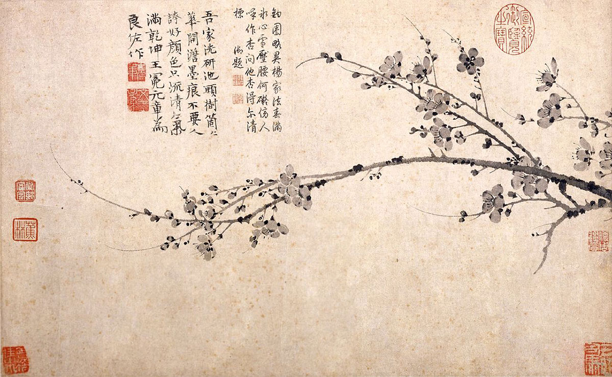 Ink Plum, scroll, ink on paper, The National Palace Museum, Taibei.