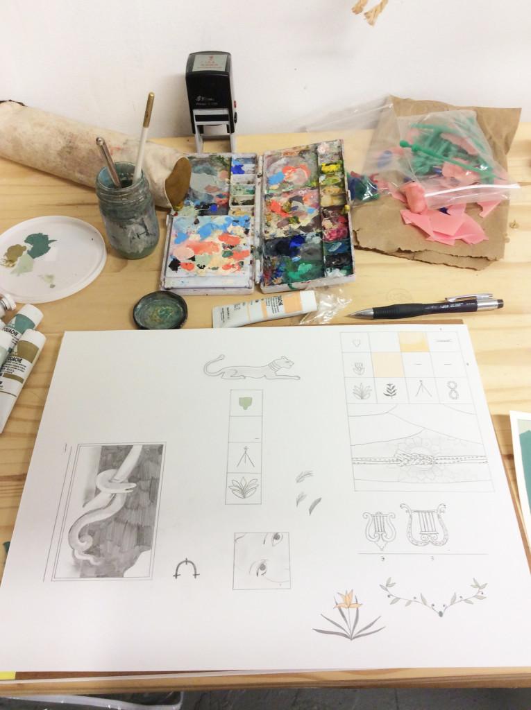 Koch sketchbook and palette