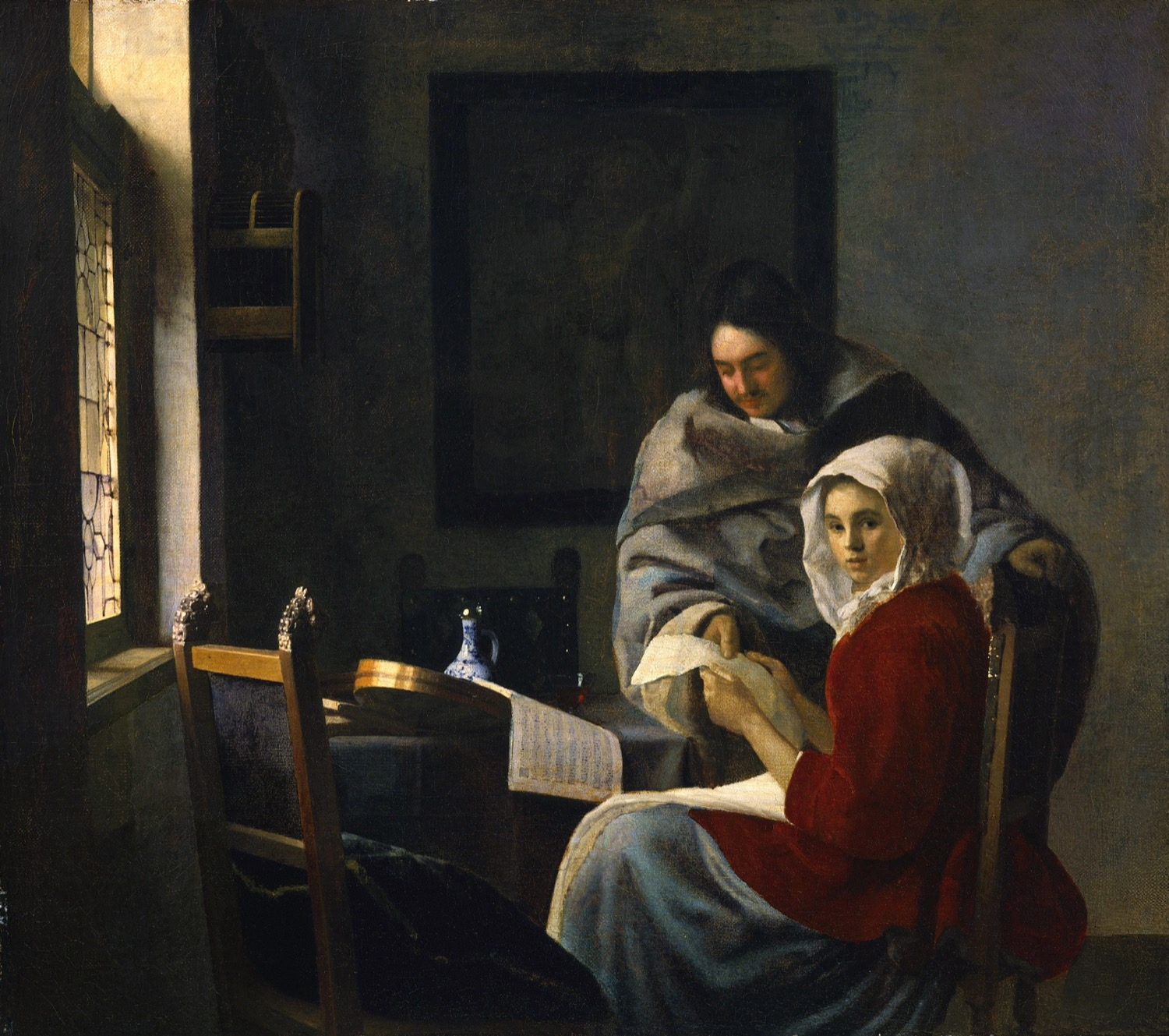 Looking at Vermeer's Paintings in Manhattan