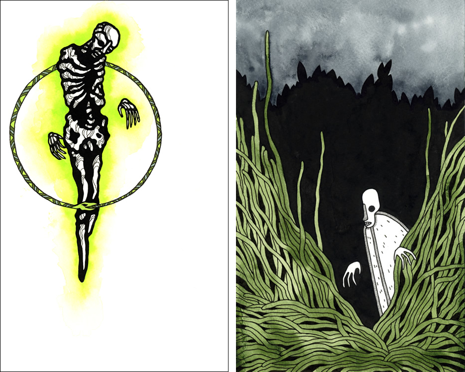 Illustrations by Matt Kish for Heart of Darkness.