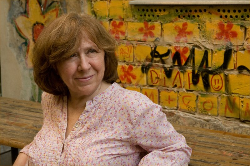Svetlana Alexievich in Berlin. © Photo M. Kabakova