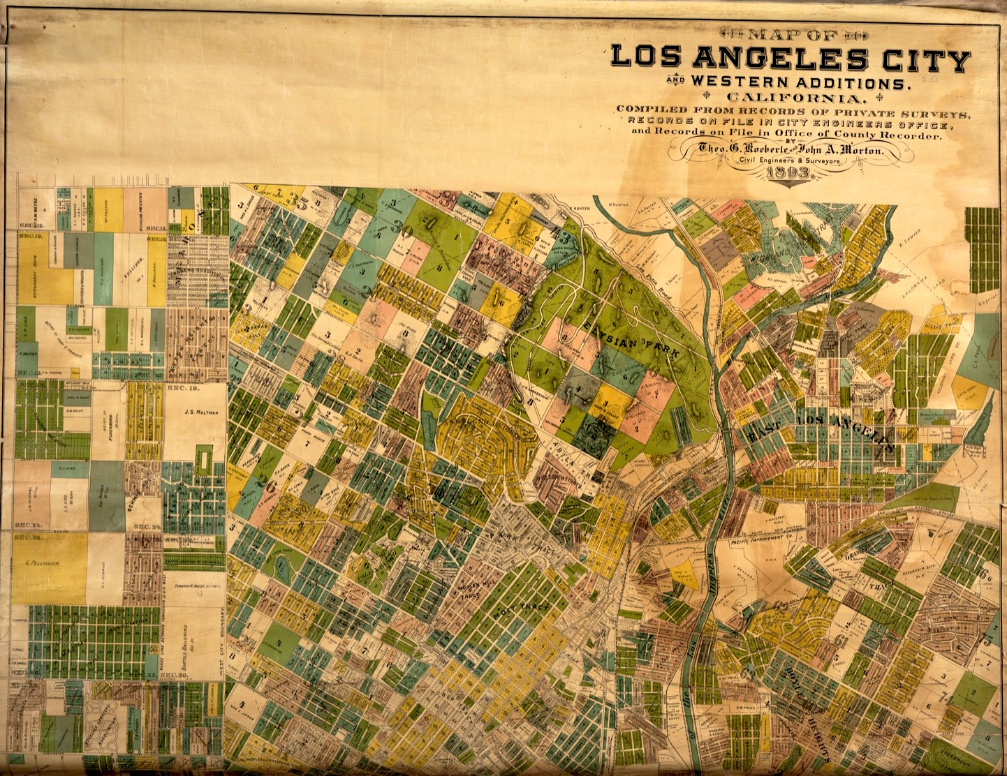 Bordellos Of The Southland An Interview With Liz Goldwyn  The - Los angeles map vintage