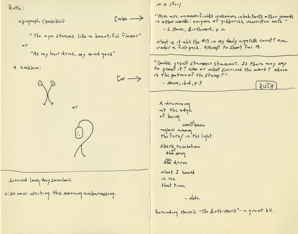 Robert Seydel, Knotbook #43, October 2, 2009. Courtesy of the Robert Seydel Estate