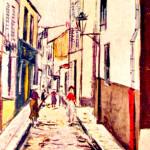 A Narrow Street at Dawn