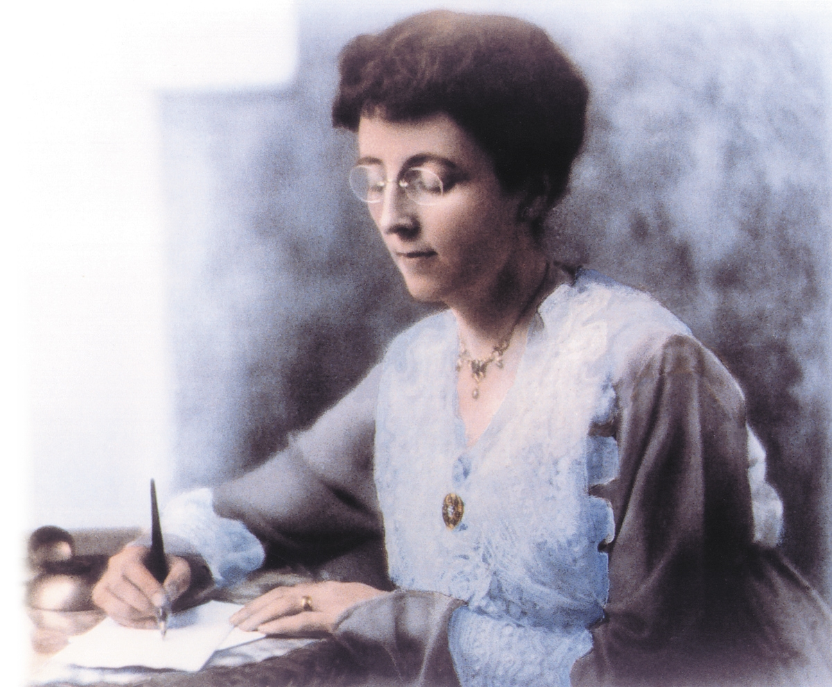 Lucy maud montgomery writing a check