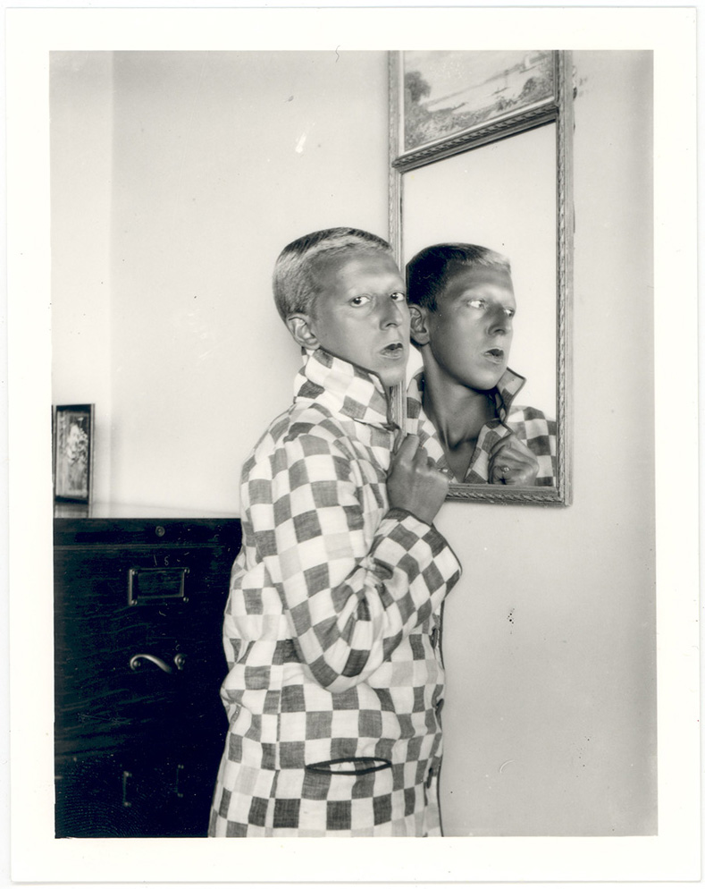 Claude Cahun, Self-portrait, 1928, black-and-white photograph.
