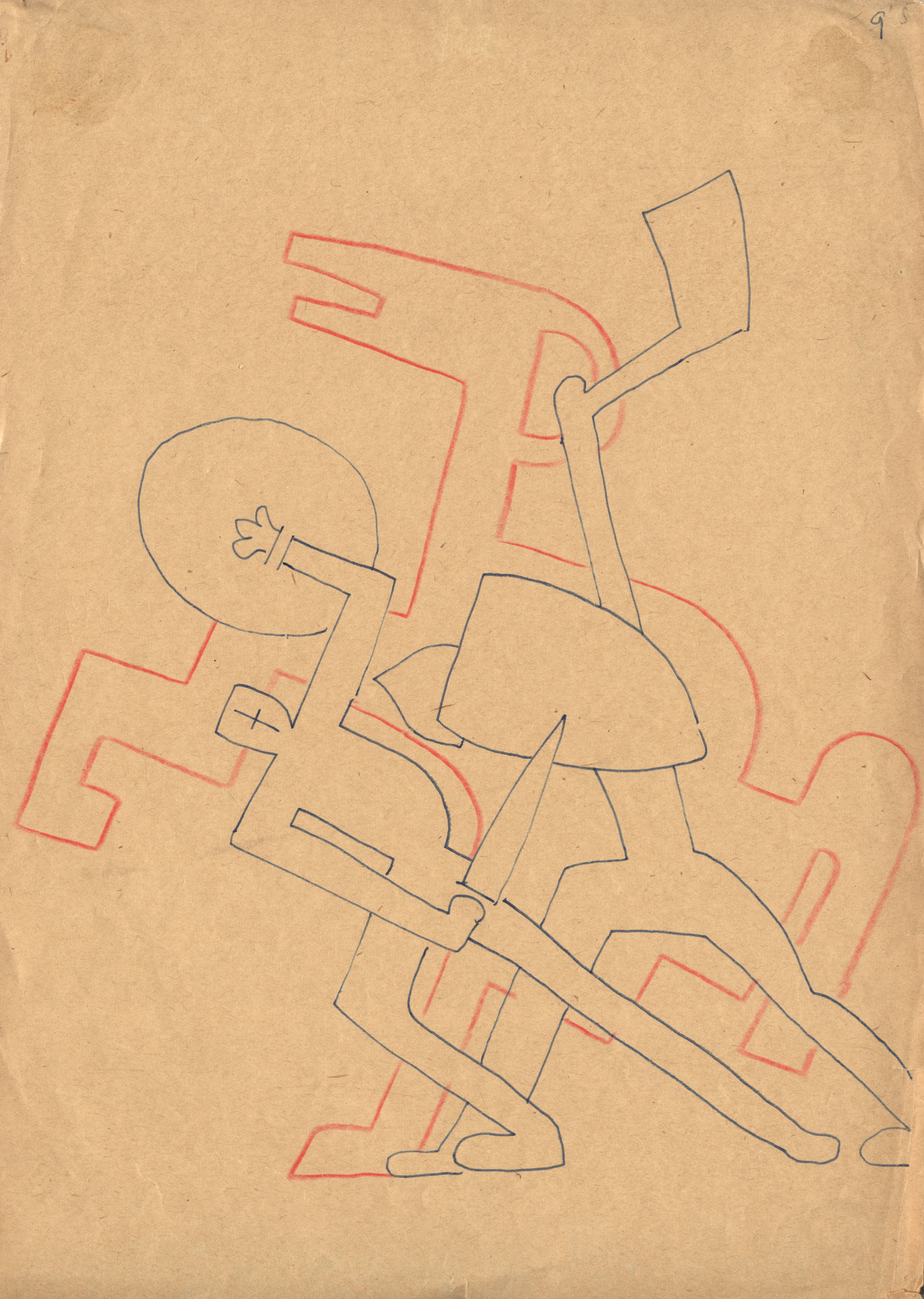 Sergei Eisenstein, Thoughts on Music, 1938, pencil on paper ©Russian State Archive of Literature and Art, Moscow