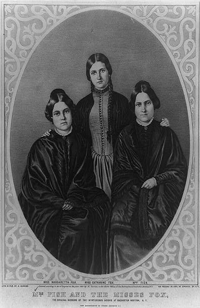 "The Fox sisters. From left to right: Margaret, Kate and Leah. From ""Radical Spirits"""