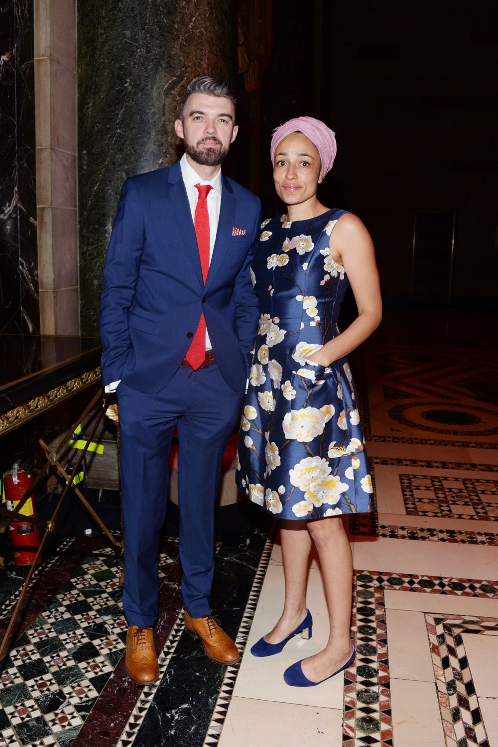 Nick Laird, Zadie Smith== The Paris Review 2016 Spring Revel== Cipriani 42nd Street, NYC== April 5, 2016== ©Patrick McMullan== Photo - Clint Spaulding/PMC==