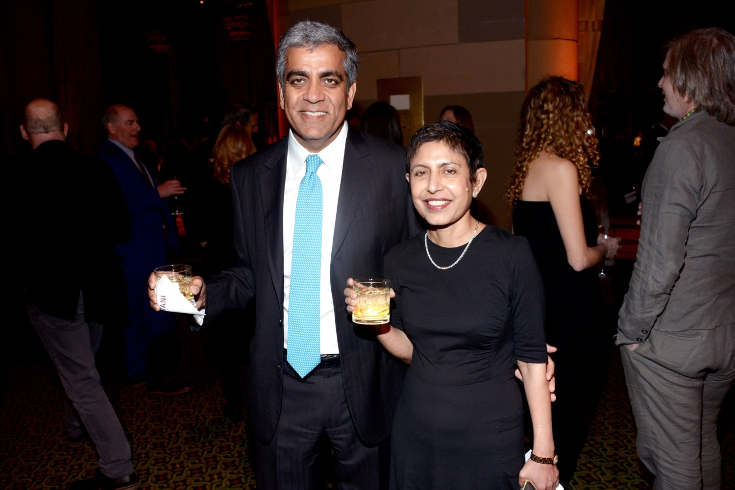 Deepak Narula, Anju Narula== The Paris Review 2016 Spring Revel== Cipriani 42nd Street, NYC== April 5, 2016== ©Patrick McMullan== Photo - Clint Spaulding/PMC==