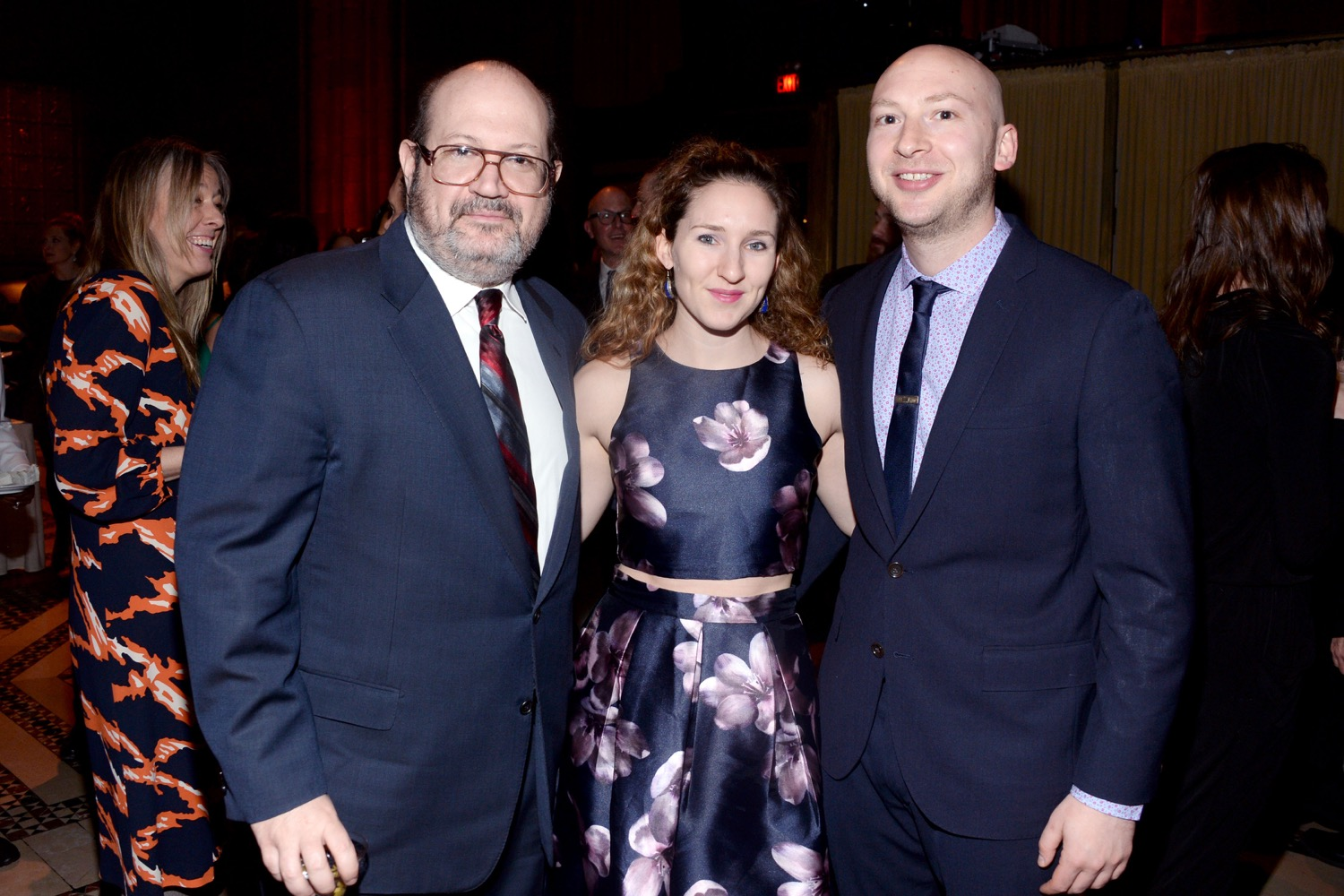 Sam Lipsyte, ?, Adam Wilson== The Paris Review 2016 Spring Revel== Cipriani 42nd Street, NYC== April 5, 2016== ©Patrick McMullan== Photo - Clint Spaulding/PMC==