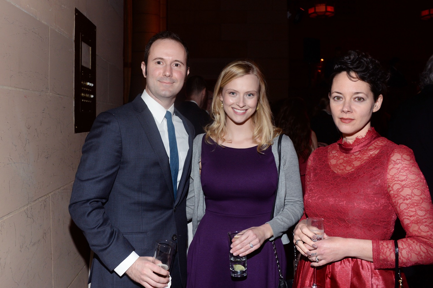 Tom Bean, Suzanne Lenz, Nicole Rudick== The Paris Review 2016 Spring Revel== Cipriani 42nd Street, NYC== April 5, 2016== ©Patrick McMullan== Photo - Clint Spaulding/PMC==