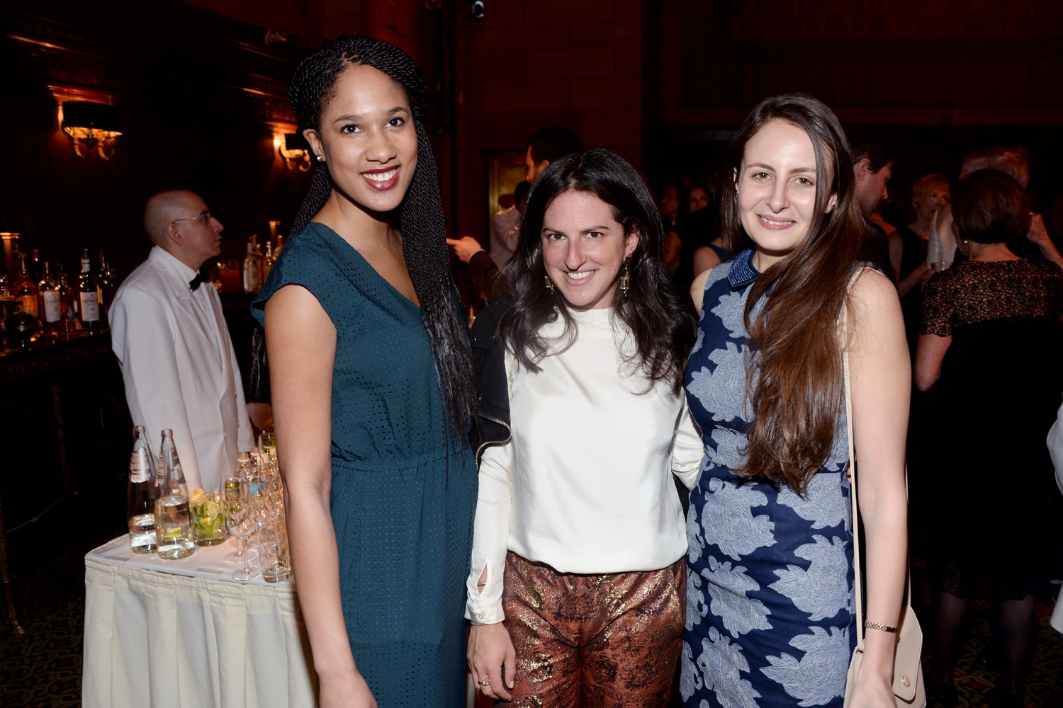 Megan Reid, Jackie Wachter, Kate Barry== The Paris Review 2016 Spring Revel== Cipriani 42nd Street, NYC== April 5, 2016== ©Patrick McMullan== Photo - Clint Spaulding/PMC==