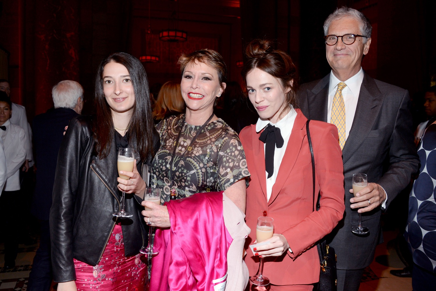 Naomi Bernstien, Vicky Iovine, Hailey Gates, David Coiro== The Paris Review 2016 Spring Revel== Cipriani 42nd Street, NYC== April 5, 2016== ©Patrick McMullan== Photo - Clint Spaulding/PMC==
