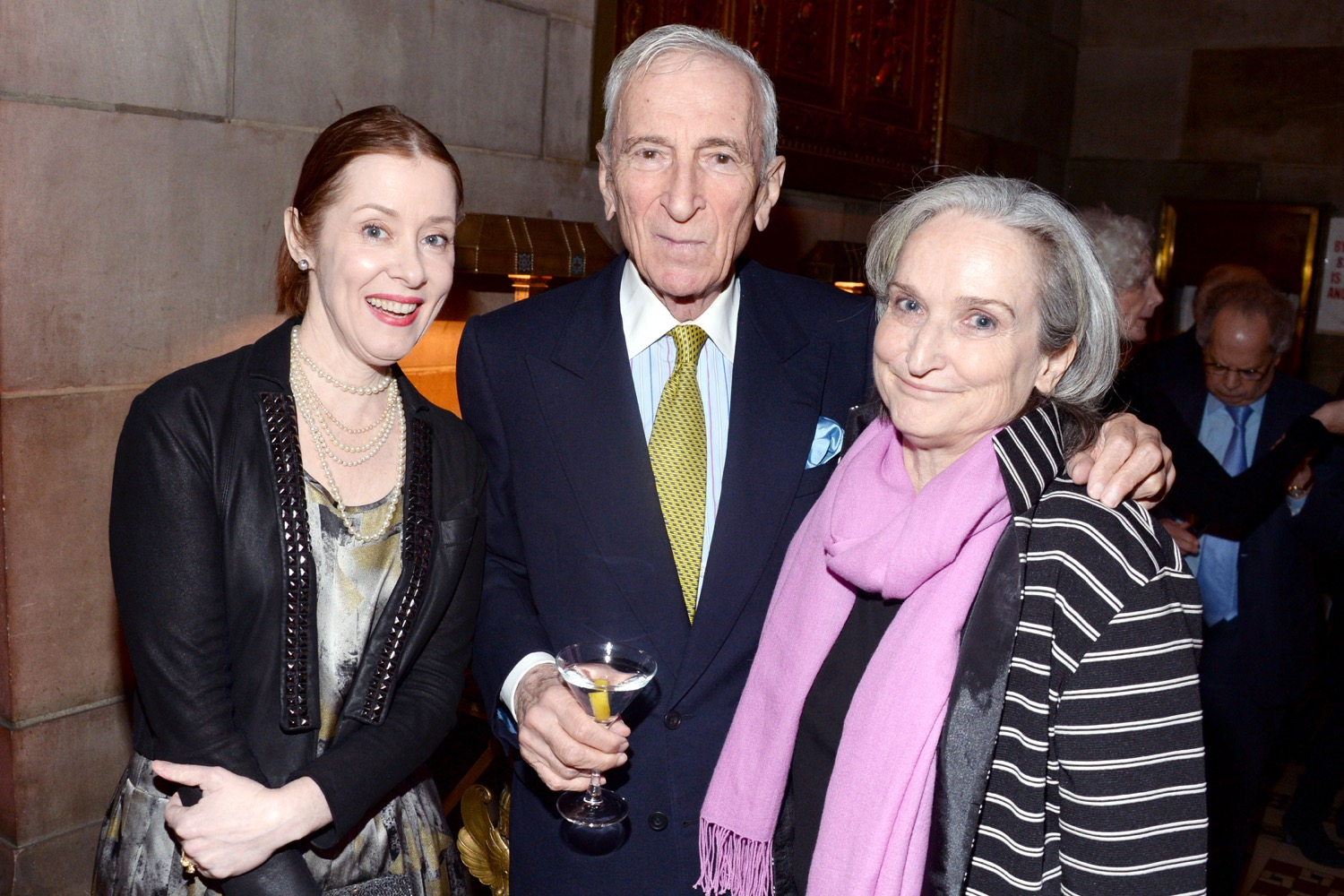 Suzanne Vega, Gay Talese, Sarah Plimpton== The Paris Review 2016 Spring Revel== Cipriani 42nd Street, NYC== April 5, 2016== ©Patrick McMullan== Photo - Clint Spaulding/PMC==