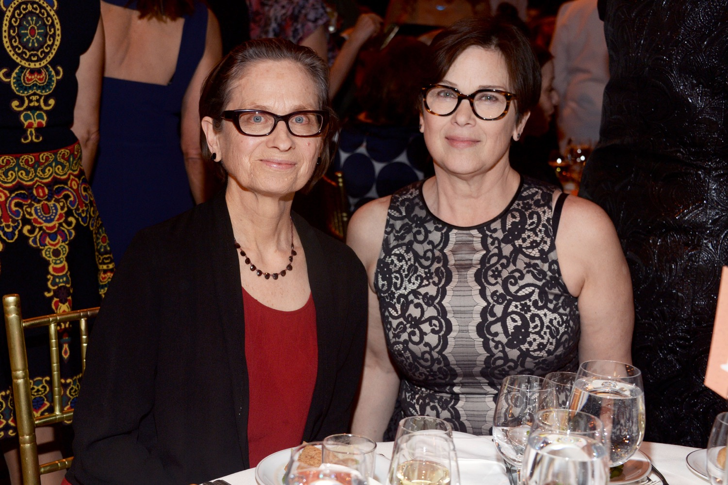 Lydia Davis, Denise Shannon== The Paris Review 2016 Spring Revel== Cipriani 42nd Street, NYC== April 5, 2016== ©Patrick McMullan== Photo - Clint Spaulding/PMC==