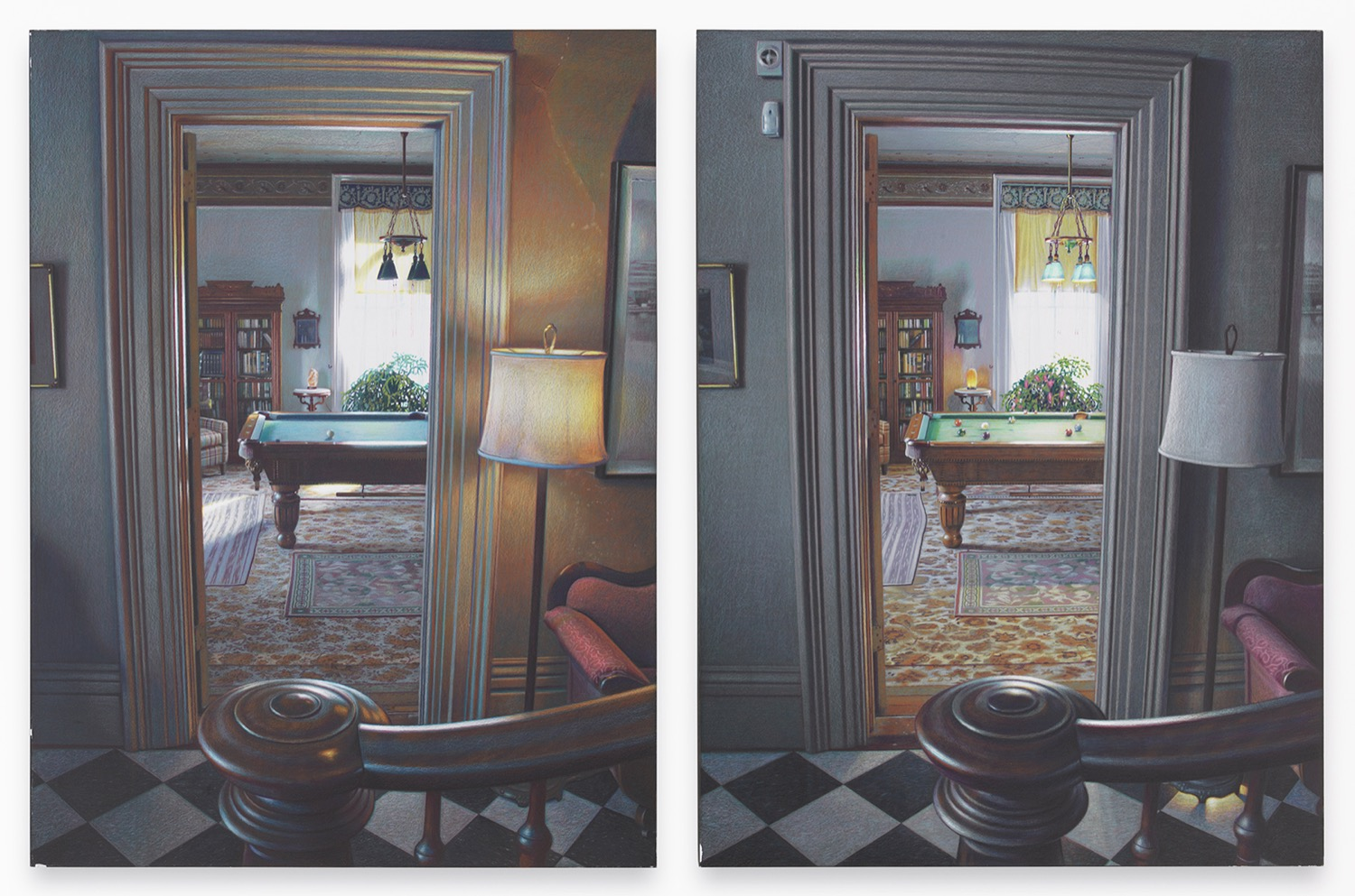 time diptychs and mirrored rooms art by eric green