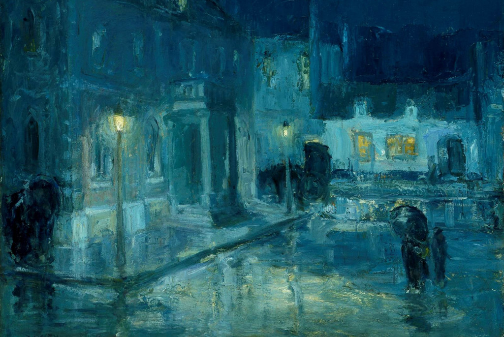 William Edouard Scott, Rainy Night at Etaples, 1912