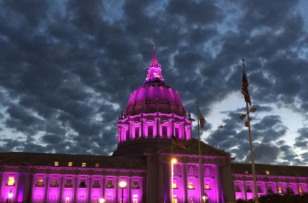 San Francisco City Hall, April 21, 2016. Photo via Instagram: alightningrod
