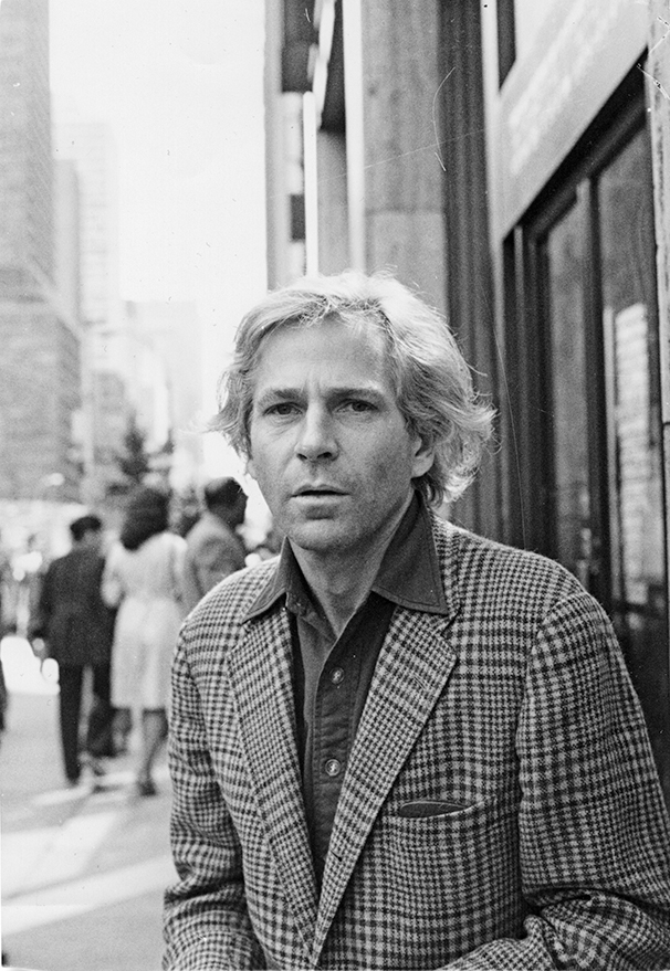 Gordon Lish outside the Esquire offices, in New York, ca. 1970. Photo by Bud Lee.
