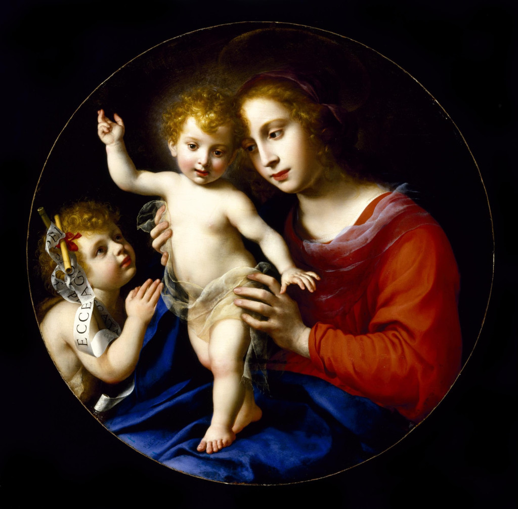 Virgin and Child with the Infant Saint John the Baptist (1635), by Carlo Dulci