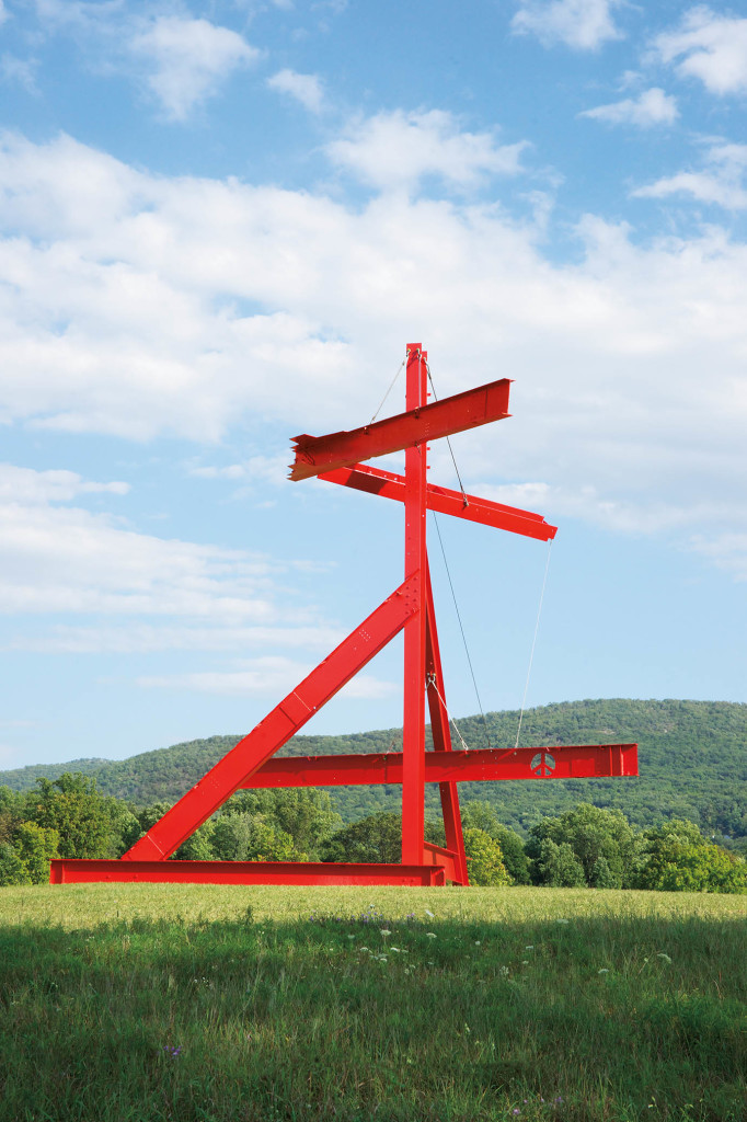 "Mark di Suvero, Mother Peace, 1969-70. Painted steel, 41' 8"" x 49' 5"" x 44' 3"", Gift of the Ralph E. Odgen Foundation. Installation view at Storm King Art Center. Photo: Jerry L. Thompson."