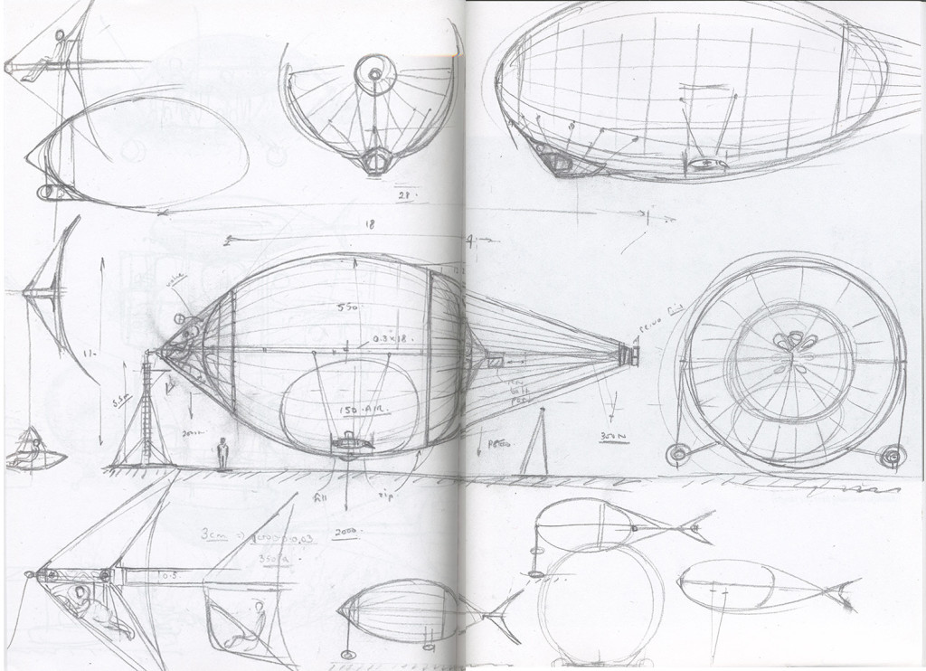 Airship designs by Graham Dorrington.