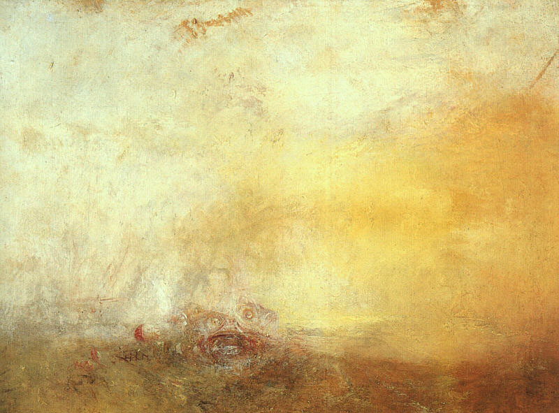 J. M. W. Turner, Sunrise with Sea Monsters, 1844, oil on canvas.