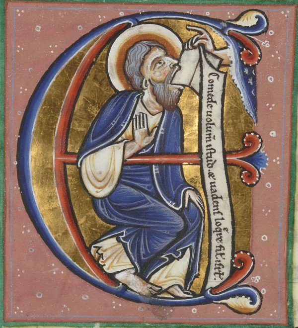 """You'll eat your words,"" God said, and lo, Ezekiel did. (Source gallica.bnf.fr)"